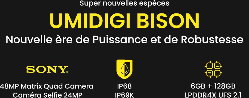 Smartphone Umidigi Bison, la robustesse au meilleur prix en Tunisie